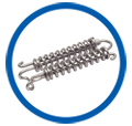 Double Coil Stainless Steel Compression Springs