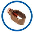 Copper Rod To Cable Clamps