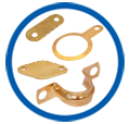 Pressed Parts in Brass copper parts components